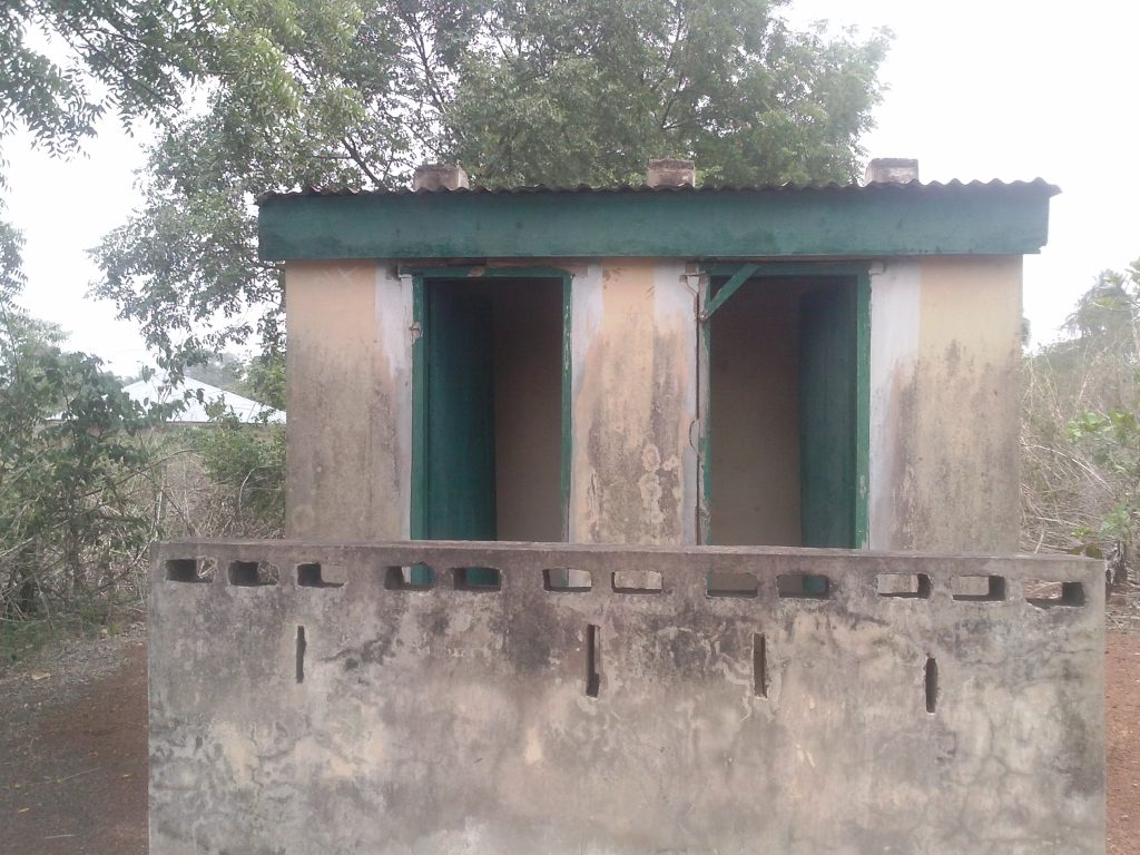 Pit toilets at Ipee Basic Health Centre